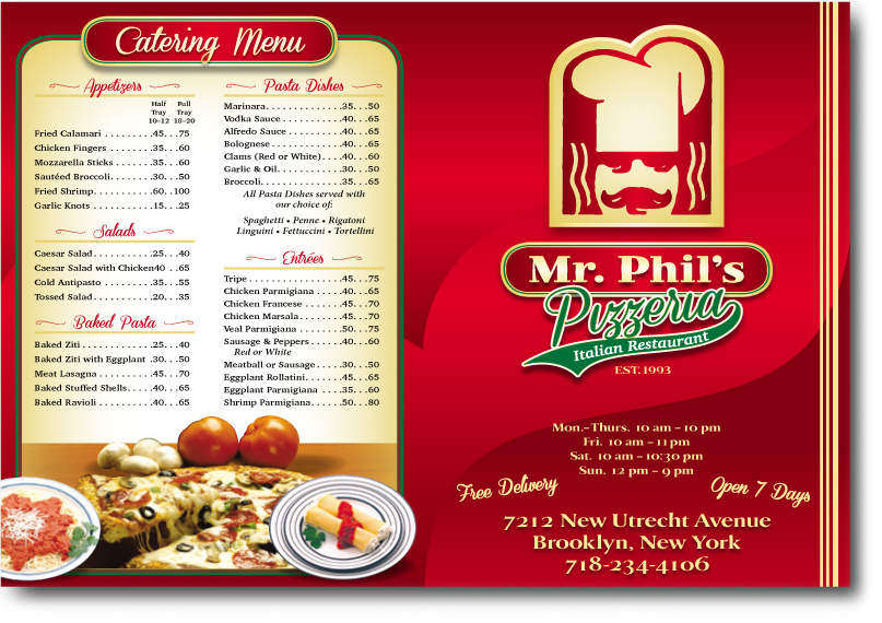 mr phill's menu